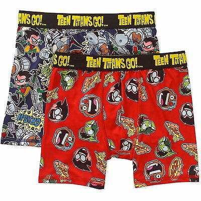 New Teen Titans Go Boys Boxer Briefs Set of 2 Size 6
