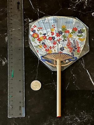 VIntage Handmade Japanese Edo Uchiwa (Fan) with a tiny bell by Ota-ya Artist