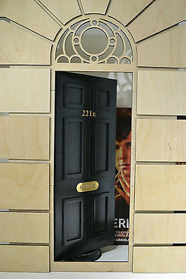 Diorama DOOR open Sherlock Baker Street 221B for Dolls House 1/6 FR Barbie