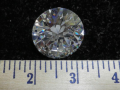 Rare HUGE Round CZ  Table Top Gem.  174 ctw 30x30x19mm   NWOT G6813