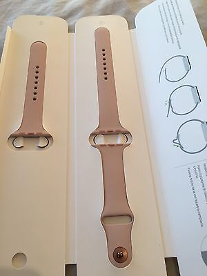 Authentic Apple 42mm Watch Strap In Nude Peach Rose Gold