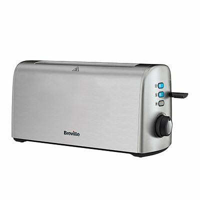 Breville VTT714 4 Slice Stainless Steel Long Slot Toaster