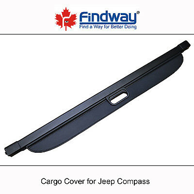 Black Cargo Cover Anti-Theft Shield For 2007-2013,2014,2015,2016 Jeep Compass