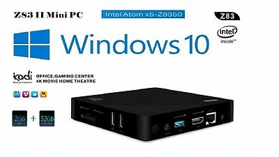 Mini PC Windows 10 Z83 II Intel z8350 NUC Media Player Kodi TV box