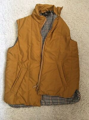 NWT Barbour Mustard Brown Classic Zip In Liner Insulated Vest Mens D880