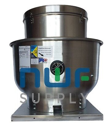 Restaurant Upblast Commercial Hood Exhaust Fan 30x30 Base 1 HP 3986 CFM