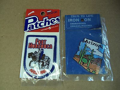 Vtg Lot/2 ARIZONA - FORT HUACHUCA - Embroidered Patch