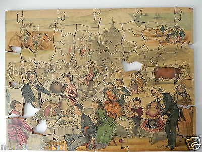 Antique London Probably Barfoot 2-Sided Jigsaw Puzzle C.1870 St Paul's/islington