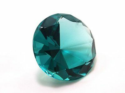 Tripact 80mm Turquoise Crystal Diamond Jewel Paperweight