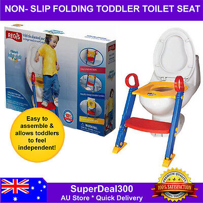 Non-Slip Kids Training Folding Safety Toilet Seat Potty Trainer with Ladder