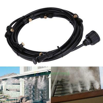 20ft Outdoor Garden Patio Water Misting Cooling System 6 Mist Sprinkler Nozzles