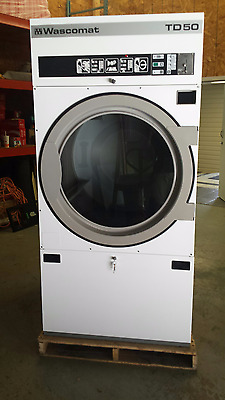 Wascomat TD50 Tumble Dryer, 50Lb, 120V, Gas, Coin Mech.  Reconditioned