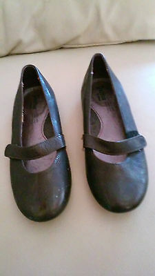 Pazitos Leather Girl's Flats Shoe Brown Sz 13