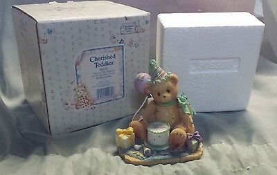 Cherished Teddies You're the Frosting on the Birthday Cake Figure 306398 w Box