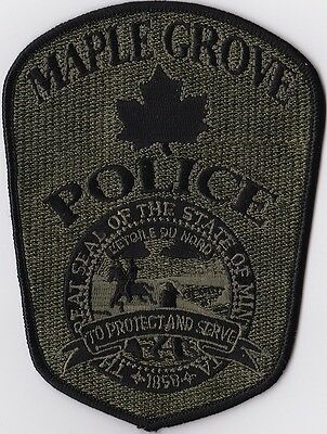 Maple Grove Police green Police Patch  Minnesota MN NEW!!