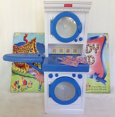 Fisher Price Fluff n Tumble Laundry - My Sweet Kitchen - 2004 RARE pretend play