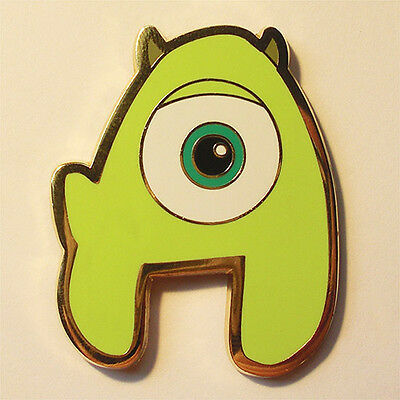 LE Letter A Monsters Inc Icon Mike New Generation Disneyland Paris Disney Pin
