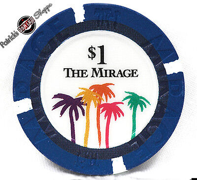 $1 ONE DOLLAR POKER GAMING CHIP THE MIRAGE HOTEL CASINO LAS VEGAS 2nd ISSUE