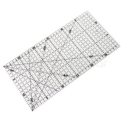 Black Scale Transparent Sewing Quilting Patchwork Ruler Easy Grid Tool 30*15cm