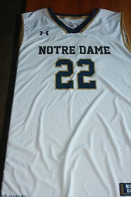 Notre Dame Men`s White Basketball Jersey by Under Armour size 3XL