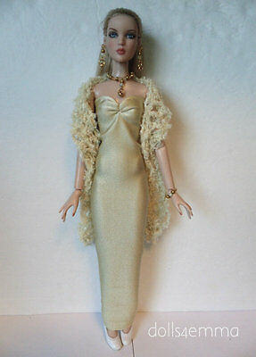 Tonner CAMI & Antoinette Doll Clothes BOA, GOWN & JEWELRY HM Fashion NO DOLL d4e
