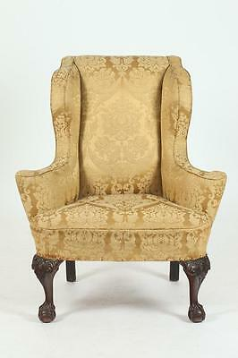 19TH/20TH CENTURY CHIPPENDALE STYLE WINGCHAIR, 19th/20th Century. - 4... Lot 387