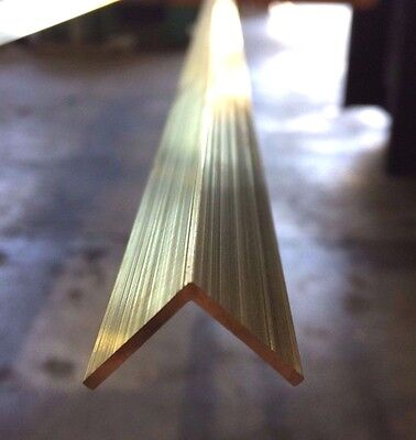 BRASS ANGLE 25.4mm X 25.4mm X 1.59mm X 300mm LONG