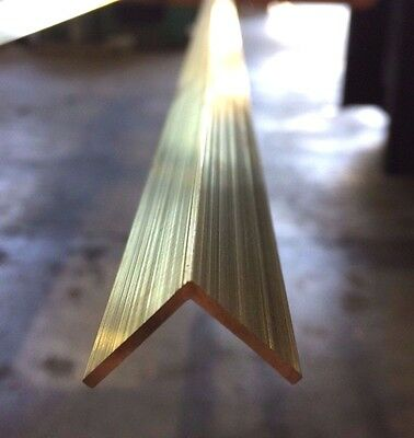 BRASS ANGLE 19.05mm X 19.05mm X 1.59mm X 300mm LONG