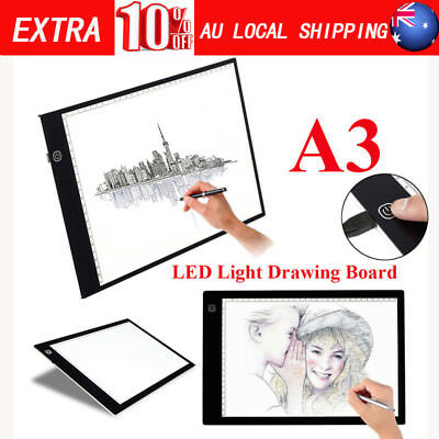 Slim Large A3 LED Tracing Board Art Craft Drawing Light Pad Tool Set AU POST SGG
