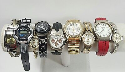Lot Of 9 Watch Men's Women's Timex Chico's Geneva Anne Klein Puma Vtg/Modern #1