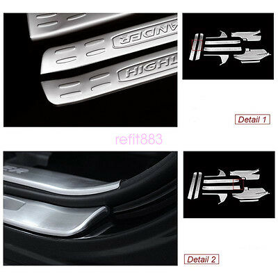 New Stainless Door Sill Scuff Plate Guards Cover For Toyota Highlander 2015 2016