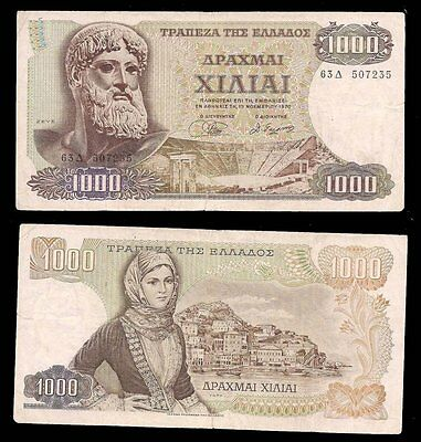 GREECE - 1000 DRACHMAI 1970 - P# 189a - CV $50