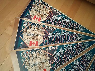 Blue Jays 1992 World Series Signed Joe Carter Pennant COA OR Pick 2 bobbleheads