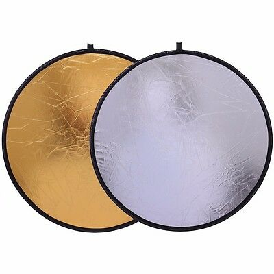30cm 2 in 1 Round Disc Portable Collapsible Light Photography Reflector Studio