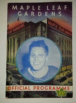"Rare Canadian (Toronto) ""march 24, 1945 Maple Leaf Gardens Official Programme"""