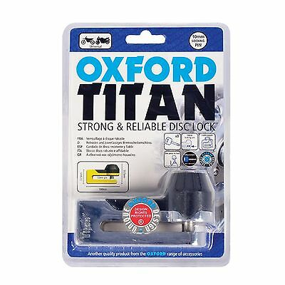 Oxford NEW Mx Motorcycle Security Motocross Dirt Bike Titan Chrome Disc Lock