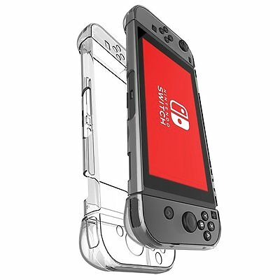 Anti-Scratch Hard Plastic Crystal Case Cover Back for Nintendo Switch Clear