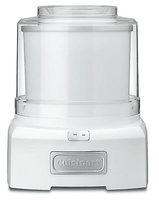 Cuisinart 6 Cup Homemade Ice Cream Frozen Yogurt Sorbet Maker Machine in White