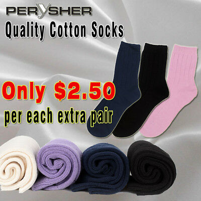 PERYSHER Breathable Unisex Cotton Socks - Size M Thick Anti-Bacterial