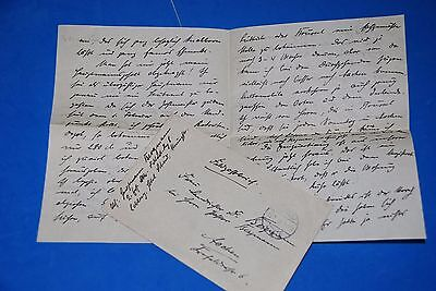 1918 World War, German Captain Field Post Vintage old Letter WWI, Antique L51