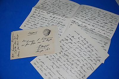 1918 World War, German Captain Field Post Vintage old Letter WWI, Antique L58