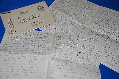 1918 World War, German Captain Field Post Vintage old Letter WWI, Antique L60