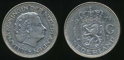 Netherlands, Kingdom, Juliana, 1971 1 Gulden - Very Fine
