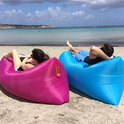 Portable  Chill Lazy Sofa Fast Inflatable Air Sleeping Bag Camping Bed Beach