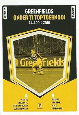 GREENFIELDS TOERNOOI incl CHELSEA  April 2016