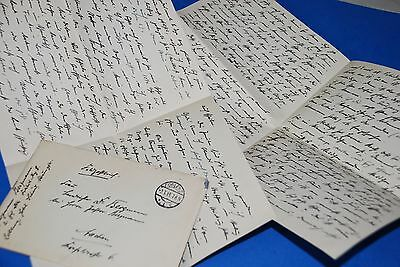 1918 World War, German Captain Field Post Vintage old Letter WWI, Antique L53