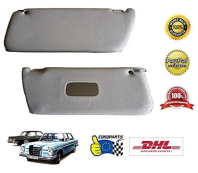 Mercedes-Benz W108 W109 Sun Visors, Perforated, Cream, free DHL Express shipping