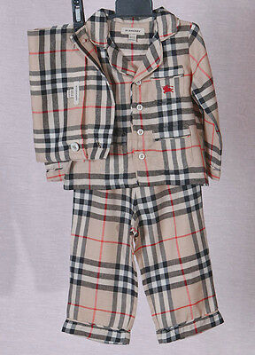 BURBERRY Nova Check Pyjamas Size 3 YEARS  -98 cm   AUTHENTIC 100%
