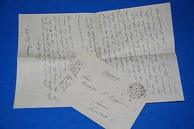 1918 World War, German Captain Field Post Vintage old Letter WWI, Antique L54