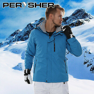 NEW PERYSHER Mens Dimension & Royal Blue Snowboard Jacket / Ski Jacket